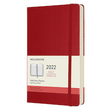 Moleskine Hardcover Large Daily Diary 2022 Scarlet Red