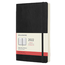 Moleskine Softcover Large Daily Diary 2022 Black