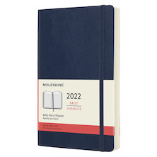 Moleskine Softcover Large Daily Diary 2022 Sapphire Blue