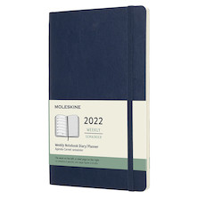 Moleskine Softcover Large Weekly Diary 2022 Sapphire Blue