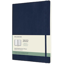 Moleskine Softcover Extra Large Weekly Diary 2022 Sapphire Blue