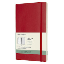 Moleskine Softcover Large Weekly Diary 2022 Scarlet Red