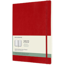 Moleskine Softcover Extra Large Weekly Diary 2022 Scarlet Red