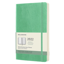 Moleskine Softcover Large Weekly Diary 2022 Ice Green