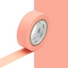 mt Washi Masking Tape - 15mm x 10m - Salmon Pink