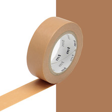mt Washi Masking Tape - 15mm x 10m - Cork