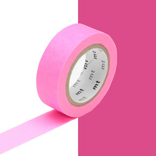 mt Washi Masking Tape - 15mm x 10m - Shocking Pink