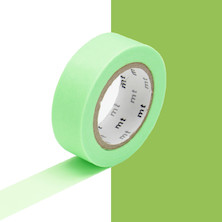 mt Washi Masking Tape - 15mm x 10m - Shocking Green