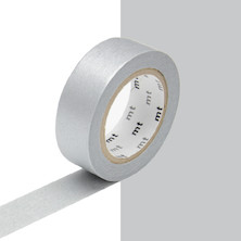 mt Washi Masking Tape - 15mm x 10m - Silver