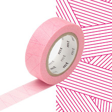 mt Washi Masking Tape - 15mm x 10m - Messy Magenta