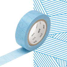 mt Washi Masking Tape - 15mm x 10m - Messy Cyan