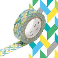 mt Washi Masking Tape - 15mm x 10m - Slash Green