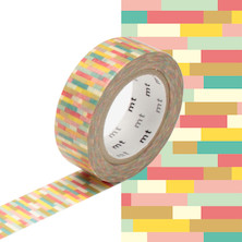 mt Washi Masking Tape - 15mm x 10m - Block Pink
