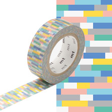 mt Washi Masking Tape - 15mm x 10m - Block Blue