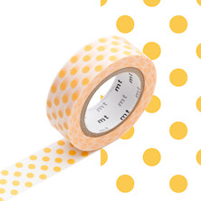 mt Washi Masking Tape - 15mm x 10m - Dot Apricot