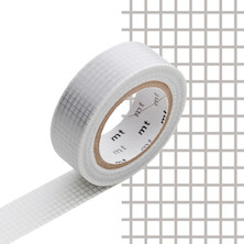 mt Washi Masking Tape - 15mm x 10m - Hougan Silver