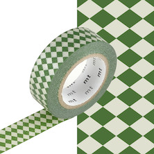 mt Washi Masking Tape - 15mm x 10m - Diamond Viridian