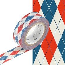 mt Washi Masking Tape - 15mm x 10m - Argyle Red