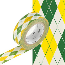 mt Washi Masking Tape - 15mm x 10m - Argyle Green