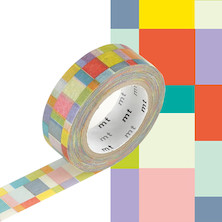 mt Washi Masking Tape - 15mm x 10m - Mosaic Bright