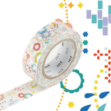 mt Washi Masking Tape EX - 15mm x 10m - Colourful Pop