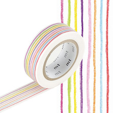 mt Washi Masking Tape EX - 15mm x 10m - Iro Enpitsu Border