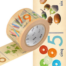 mt Washi Masking Tape EX - 30mm x 10m - Number