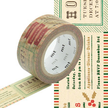 mt Christmas Washi Masking Tape - 20mm x 7m - Invitation