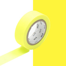 mt Washi Masking Tape - 15mm x 10m - Shocking Yellow