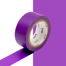 mt Washi Masking Tape 15mm x 5m Fluorescent Purple