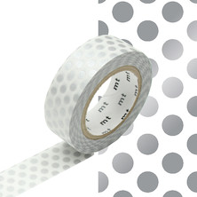mt Washi Masking Tape 15mm x 10m Dot Silver