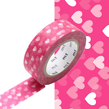 mt Washi Masking Tape 15mm x 10m Heart Spot