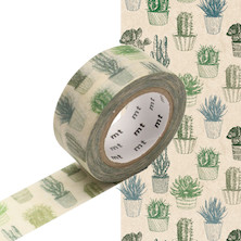 mt Washi Masking Tape 20mm x 10m Cactus