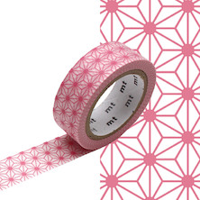 mt Washi Masking Tape - 15mm x 7m - Asanoha Momo
