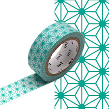 mt Washi Masking Tape - 15mm x 7m - Asanoha Hisui