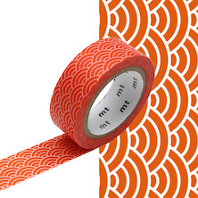 mt Washi Masking Tape - 15mm x 7m - Seigaihamon Akadaidai