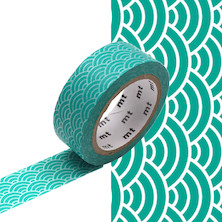 mt Washi Masking Tape - 15mm x 7m - Seigaihamon Hisui
