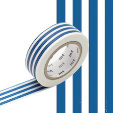 mt Washi Masking Tape - 15mm x 10m - Border Indigo