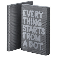 nuuna Graphic L Black Smooth Bonded Leather Cover Notebook Everything Starts From A Dot