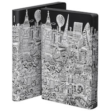 nuuna Graphic L Black Smooth Bonded Leather Cover Notebook London