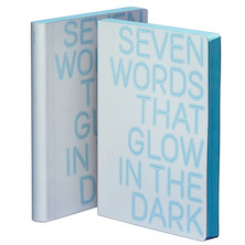 nuuna Graphic L Smooth Bonded Leather Cover Notebook Seven Words That Glow