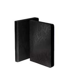 nuuna Graphic S Black Smooth Bonded Leather Cover Notebook Banana Leaves