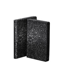 nuuna Graphic S Black Smooth Bonded Leather Cover Notebook Milky Way
