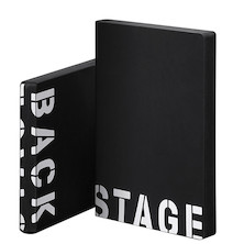 Nuuna Graphic L Smooth Bonded Leather Cover Notebook Back Stage