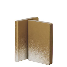 Nuuna Graphic S Smooth Bonded Leather Cover Notebook Golden Rain
