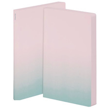 Nuuna Colour Clash L Light Smooth Bonded Leather Cover Notebook Pink Haze