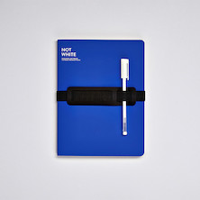 Nuuna Not White L Light Recycled Leather Cover Notebook Blue