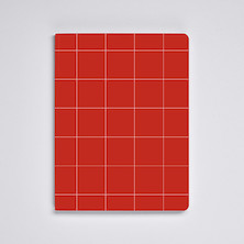 Nuuna Graphic L Light Recycled Leather Cover Notebook Break The Grid