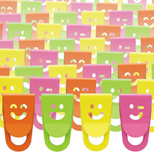 OHTO Smile Slide Clip Mini Assorted Pack of 100