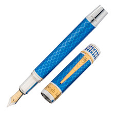 Onoto The British Museum Fountain Pen Great Court Silver Limited Edition
